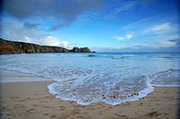 Christmas Day 2014 at Porthcurno Beach